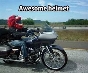 awesome helmet is awesome funny picture