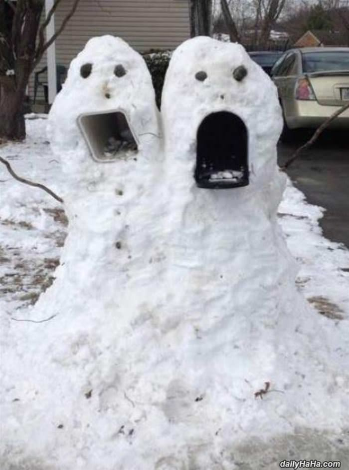 awesome mailbox snowman funny picture