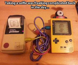 Back in the Day Selfies funny picture