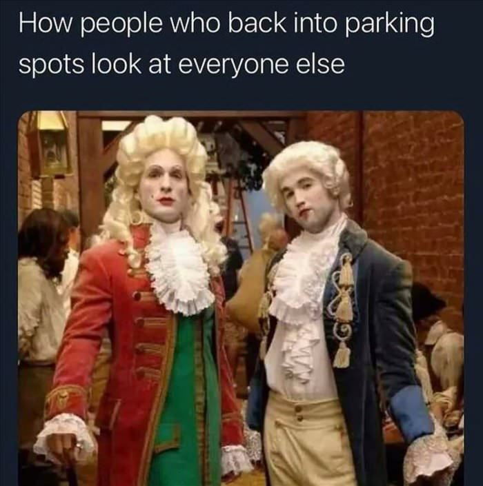 backing into parking spots
