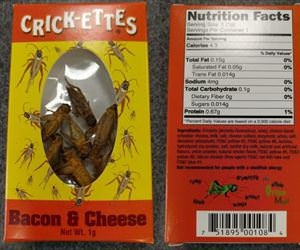 bacon and cheese crickets