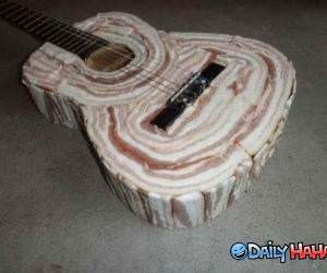 Bacon Guitar funny picture