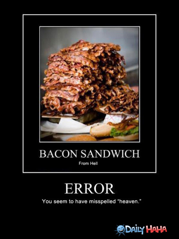 Bacon Sandwich funny picture