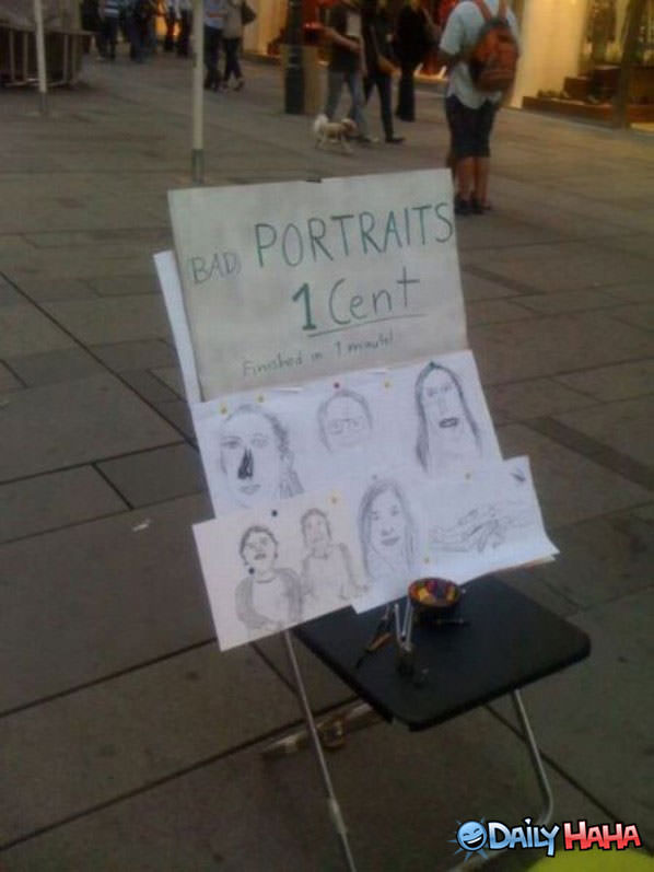 Bad Portraits funny picture