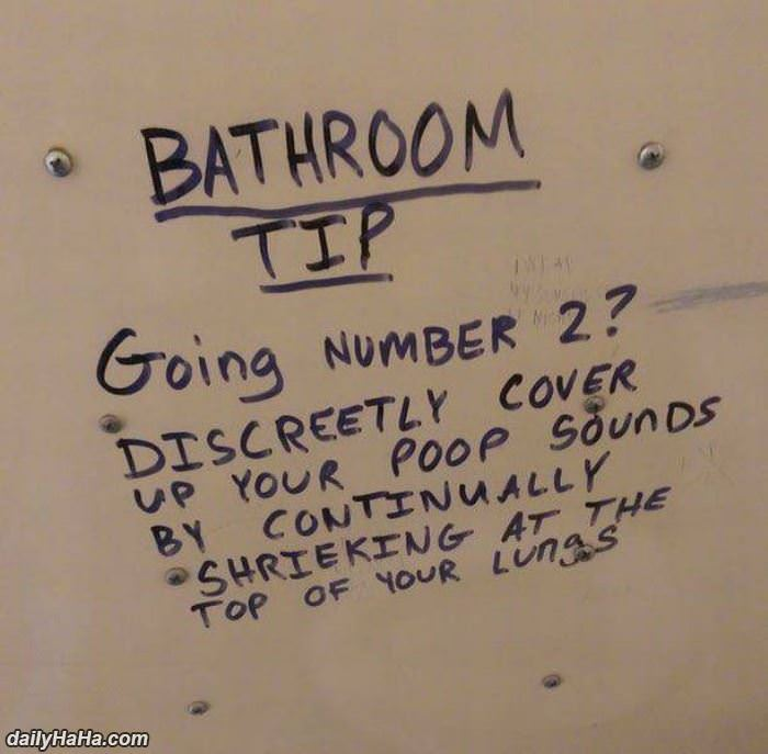 bathroom pro tip funny picture