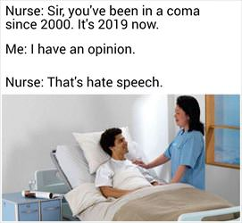 been in a coma