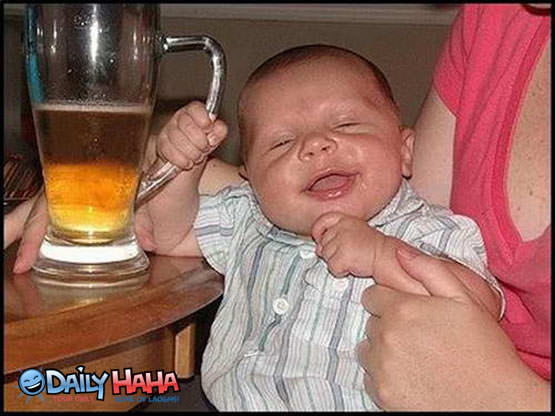 Baby Drinking Beer Picture