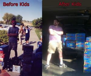 before and after kids funny picture