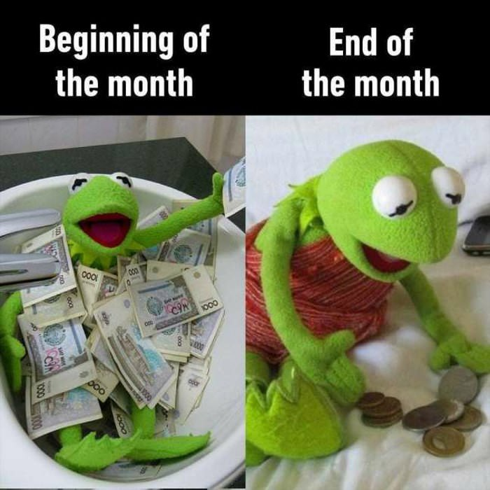 beginning and end of the month