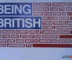 Being British funny picture