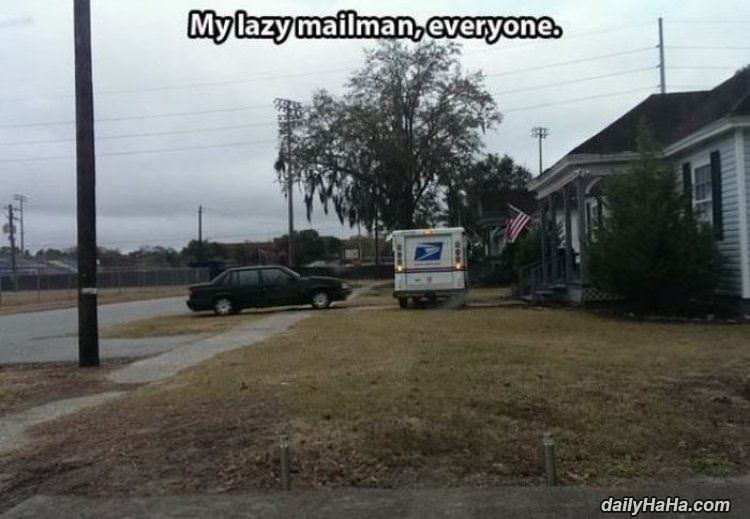 best mailman ever funny picture