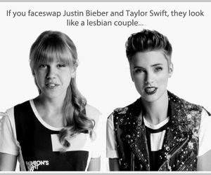 Bieber and Swift Couple funny picture