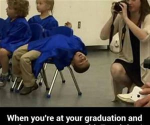 bored at graduation funny picture