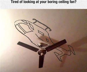 boring ceiling fan funny picture