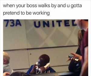 boss walks by