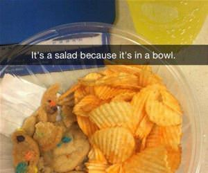 bowl of salad funny picture