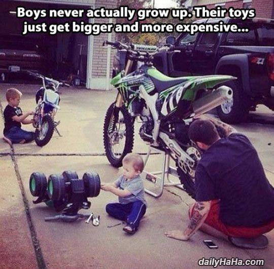 boys never actually grow up funny picture