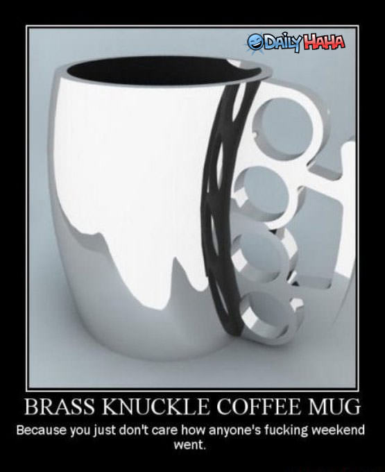 Brass Knuckles Cogffee Mug