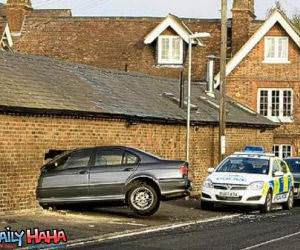 Brick wall parking
