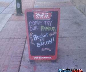 Bacon Bucket funny picture