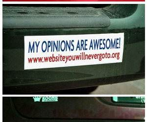 bumper stickers funny picture