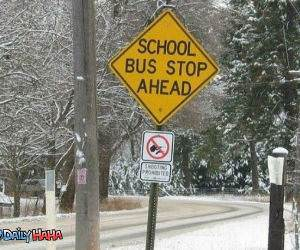 Bus Stop Ahead Funny Picture