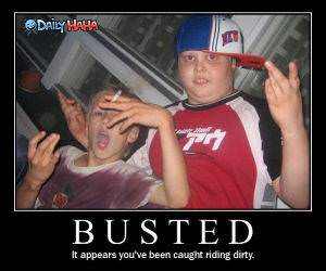 Busted Riding Dirty FunnyPicture