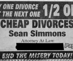 funny divorce advert picture