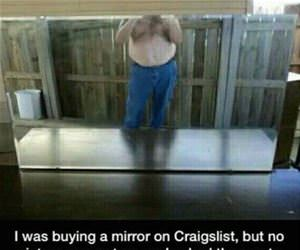 buying a mirror online funny picture