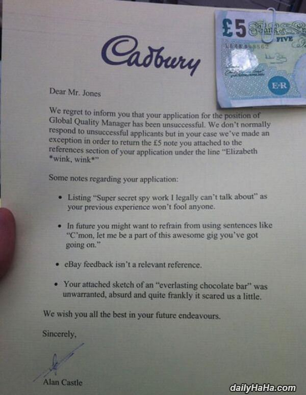 Cadbury Application