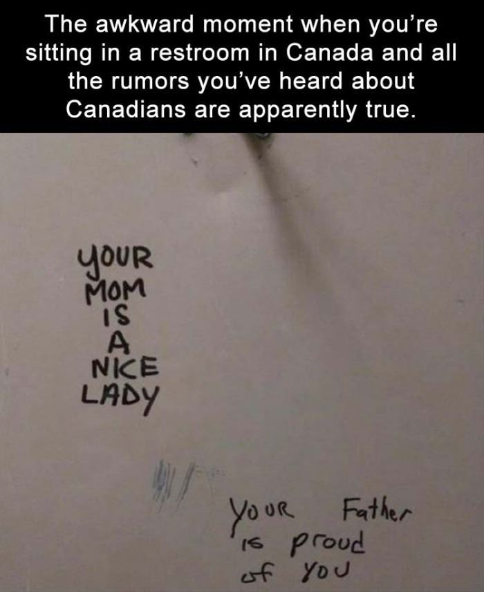 canadian bathroom walls funny picture