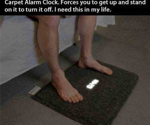Carpet Alarm Clock funny picture