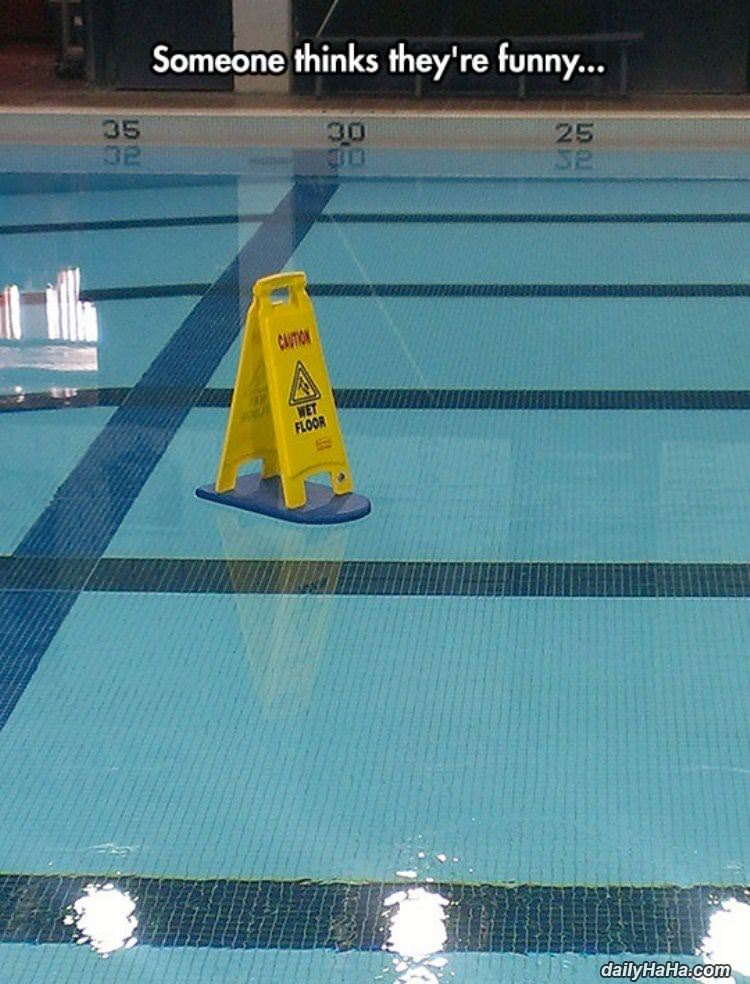 caution wet floor funny picture