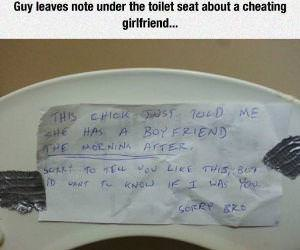 cheating girlfriend funny picture