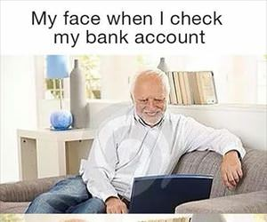 checking my bank account