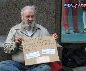 Checks Not Accepted Funny Picture