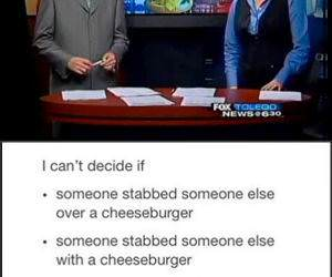 Cheeseburger Stabbing funny picture