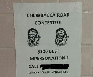 chewbacca roar contest funny picture