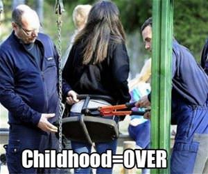 childhood is officially over funny picture