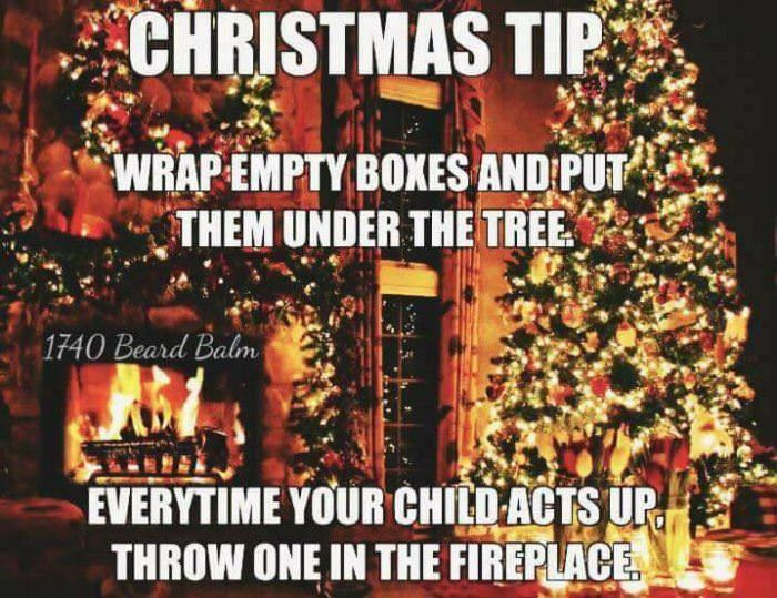 christmas tip for parents funny picture