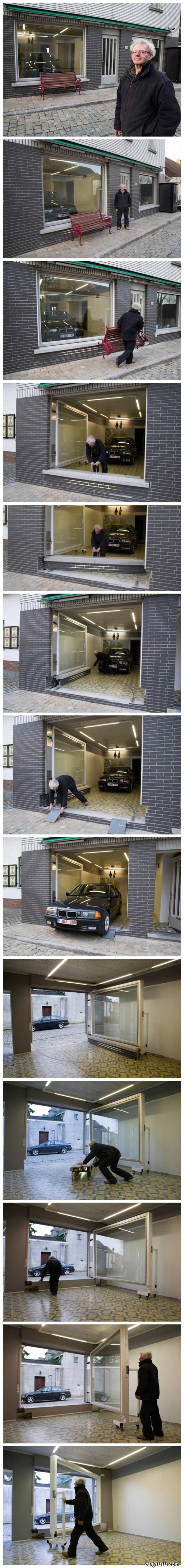 city denied man a garage permit funny picture