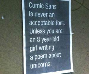 Comic Sans funny picture
