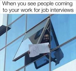 coming to your job