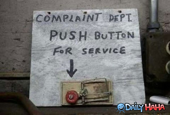 Complaint Department funny picture