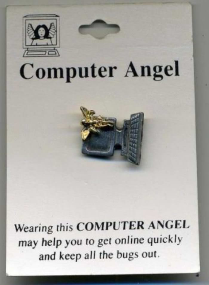 computer angel funny picture
