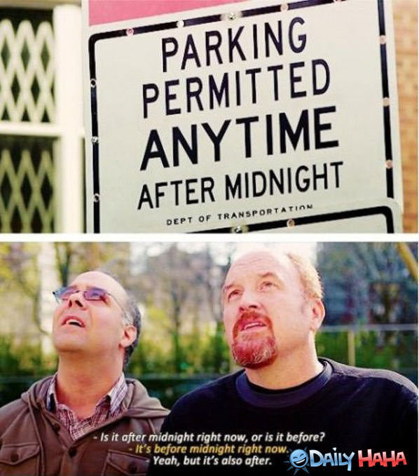 Confusing Parking Sign funny picture
