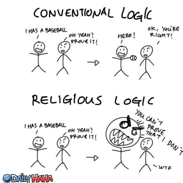 conventional logic vs religious logica religiilor