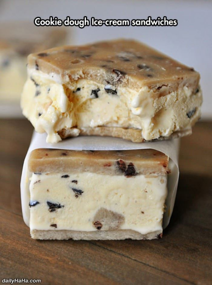 cookie dough ice cream sandwich funny picture
