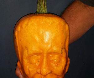 cool molded pumpkin funny picture