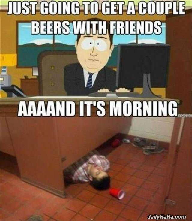 couple of beers with friends funny picture